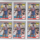 Chucky Brown RC Trading Card Lot of (6) 1990-91 Hoops #71 Cavaliers