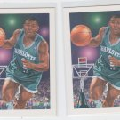 Muggsy Bogues Trading Card Lot of (2) 1991-92 Hoops #505 Hornets ART