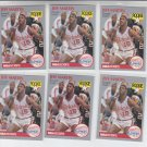 Jeff Martin RC Trading Card Lot of (6) 1990-91 Hoops #148 Clippers