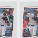Erick Aybar Trading Card Lot of (2) 2014 Topps Mini #369 Angels