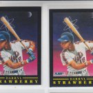 Darryl Strawberry Pro Vision Insert Lot of (2) 1991 Fleer #12 Mets NMMT