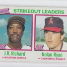 Nolan Ryan J.R. Richard Baseball Trading Card Single 1980 Topps #206 Angels VGEX