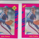 John Franco Trading Card Lot of (2) 1990 Classic Update #T19 Reds