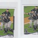 Tyler Flowers Trading Card Lot of (2) 2014 Topps Mini #584 White Sox