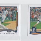 Victor Martinez Trading Card Lot of (2) 2014 Topps Mini #31 Tigers