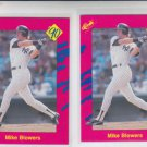 Mike Blowers Trading Card Lot of (2) 1990 Classic Update #T5 Yankees