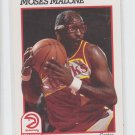 Moses Malone Trading Card Single 1991-92 Hoops #2 Hawks
