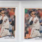 Sergio Romo Trading Card Lot of (2) 2014 Topps Mini #251 Giants