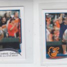 Chris Davis Trading Card Lot of (2) 2014 Topps Mini #47 Orioles