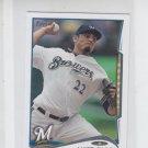 Matt Garza Trading Card Single 2014 Topps Mini #351 Brewers