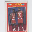 Moses Malone Dominique Wilkins All Star Game Single 1989-90  Fleer #165 NMMT
