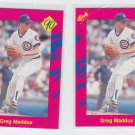 Greg Maddux Trading Card Lot of (2) 1990 Classic Update #T32 Cubs