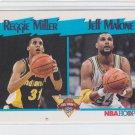 Reggie Miller & Jeff Malone Trading Card Single 1991-92 Hoops #308