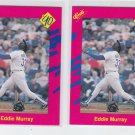Eddie Murray Trading Card Lot of (2) 1990 Classic Update #T37 Dodgers