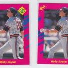 Wally Joyner Trading Card Lot of (2) 1990 Classic Update #T42 Angels