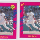 Ellis Burks Trading Card Lot of (2) 1990 Classic Update #T8 Red Sox