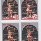 Spud Webb Trading Card Lot of (4) 1990-91 Hoops #35 Hawks