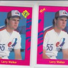 Larrry Walker RC Trading Card Lot of (2) 1990 Classic Update #T16 Expos