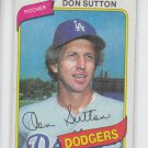 Don Sutton Baseball Trading Card Single 1980 Topps #440 Dodgers EX Slight Ding