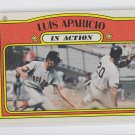 Louis Aparicio Baseball Trading Card 1972 Topps #314 Red Sox EX+ Ink Stain