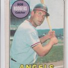 Bob Hodges Baseball Trading Card 1969 OPC #157 Angels *VG *BILL