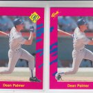 Dean Palmer Trading Card Lot of (2) 1990 Classic Update #T39 Rangers