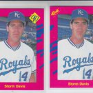 Storm Davis Trading Card Lot of (2) 1990 Classic Update #T15 Athletics