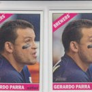 Gerardo Parra Trading Card Lot of (2) 2015 Topps Heritage #421 Brewers
