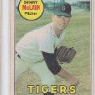 Denny McClain Baseball Trading Card 1969 OPC #150 Tigers *GOOD *BILL