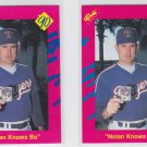 Nolan Ryan Trading Card Lot of (2) 1990 Classic Update #T26 Rangers