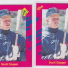 Scott Cooper Trading Card Lot of (2) 1990 Classic Update #T13 Red Sox