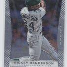 Rickey Henderson Baseball Trading Card Single 2012 Panini Prizm #149 Athletics