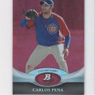 Carlos Pena Ruby Parallel 2011 Bowman Platinum #81 Cubs