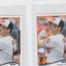 Chris Davis Trading Card Lot of (2) 2014 Topps Mini 525 Orioles