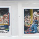 Chris Johnson Trading Card Lot of (2) 2014 Topps Mini #619 Braves