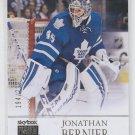 Jonathan Bernier Skybox Premium Insert 2014-15 UD Fleer Showcase #3 Leafs /299