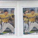 Scooter Gennett Trading Card Lot of (2) 2014 Topps Mini #130 Brewers