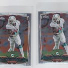 Mike Wallace Trading Card Lot of (2) 2014 Topps Chrome Mini #68 Dolphins