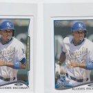 Alcides Escobar Trading Card Lot of (2) 2014 Topps Mini 514 Royals