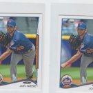 Jon Niese Trading Card Lot of (2) 2014 Topps Mini 60 Mets