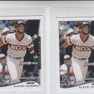 Alexei Ramirez Trading Card Lot of (2) 2014 Topps Mini #308 White Sox