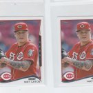 Mat Latos Trading Card Lot of (2) 2014 Topps Mini 567 Reds