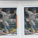 Curtis Granderson Trading Card Lot of (2) 2014 Topps Mini 515 Mets