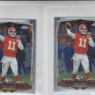 Alex Smith Trading Card Lot of (2) 2014 Topps Chrome Mini #54 Chiefs