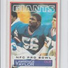Lawrence Taylor NFC Pro Bowl 1983 Topps #133 Giants EX+ Surface Wear