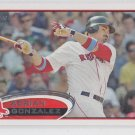 Adrian Gonzalez Baseball Trading Card 2012 Topps #50 Red Sox Dodgers