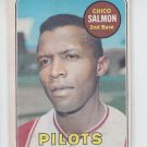 Chico Salmon Baseball Trading Card 1969 OPC #62 Pilots EX *BILL
