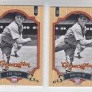Bob Feller Baseball Trading Card Lot of (2) 2012 Panini Cooperstown 69 Indians