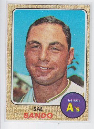 Sal Bando Baseball Trading Card 1968 Topps #146 Athletics NMMT *BILL