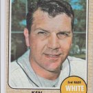Ken Boyer Baseball Trading Card 1968 Topps #259 White Sox EX *BILL